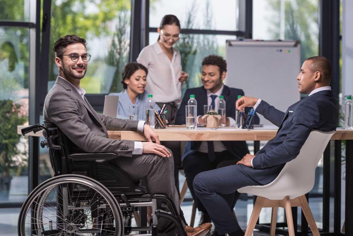 Personne handicapée au travail